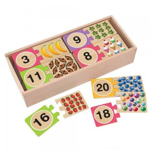 Black Friday 2020 - Melissa & Doug Self-Correcting Wooden Number Puzzles With Storage Box 40pc