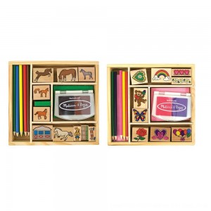 Black Friday 2020 - Melissa & Doug Wooden Stamp Sets (2): Friendship and Horses