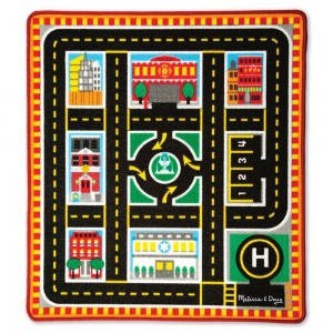 Black Friday 2020 - Melissa & Doug Round The City Rescue Rug With 4 Wooden Vehicles (39 x 36 inches)