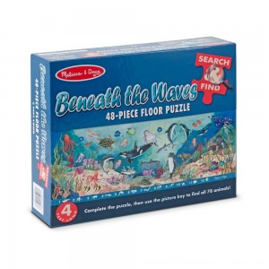 Black Friday 2020 - Melissa And Doug Search And Find Beneath The Waves Floor Puzzle 48pc