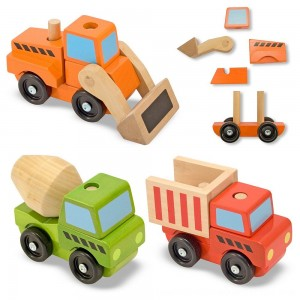 Black Friday 2020 - Melissa & Doug Stacking Construction Vehicles Wooden Toy Set