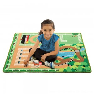Black Friday 2020 - Melissa & Doug Round the Ranch Horse Activity Rug (39 x 36 inches) With 4 Play Horses and Folding Fence