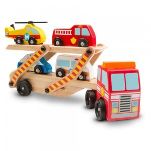 Black Friday 2020 - Melissa & Doug Wooden Emergency Vehicle Set of 6