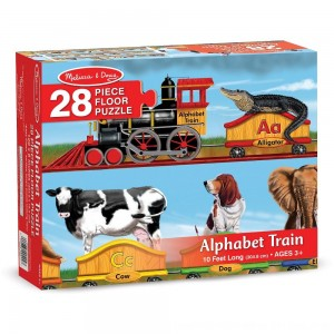 Black Friday 2020 - Melissa And Doug Alphabet Train Letters And Animals Jumbo Floor Puzzle 28pc