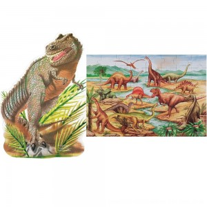 Black Friday 2020 - Melissa & Doug Dinosaur and T-Rex 2pk Floor Puzzle