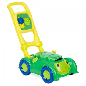 Black Friday 2020 - Melissa & Doug Sunny Patch Snappy Turtle Lawn Mower - Pretend Play Toy for Kids