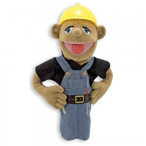 Black Friday 2020 - Melissa & Doug Construction Worker Puppet With Detachable Wooden Rod for Animated Gestures