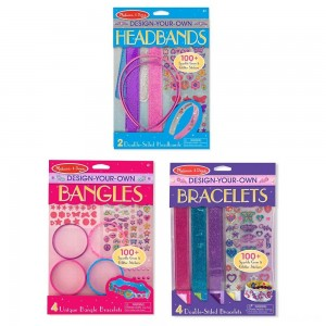 Black Friday 2020 - Melissa & Doug Design-Your-Own Jewelry-Making Kits - Bangles, Headbands, and Bracelets