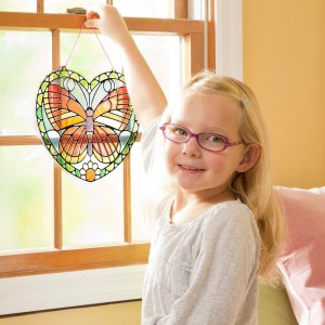 Black Friday 2020 - Melissa & Doug Stained Glass Made Easy Activity Kit: Butterfly - 140+ Stickers