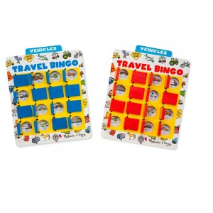 Black Friday 2020 - Melissa & Doug Flip to Win Travel Bingo Game - 2 Wooden Game Boards, 4 Double-Sided Cards, Kids Unisex