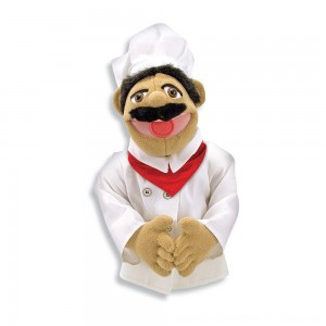 Black Friday 2020 - Melissa & Doug Chef Puppet With Detachable Wooden Rod