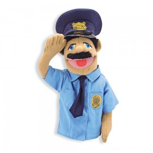 Black Friday 2020 - Melissa & Doug Police Officer Puppet With Detachable Wooden Rod