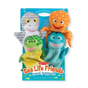 Black Friday 2020 - Melissa & Doug Sea Life Friends Hand Puppets