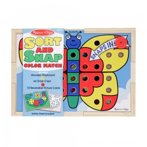 Black Friday 2020 - Melissa & Doug Sort and Snap Color Match - Sorting and Patterns Educational Toy