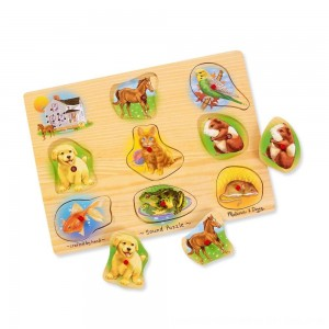 Black Friday 2020 - Melissa & Doug Assorted Pets Sound Puzzle Set - 9pc