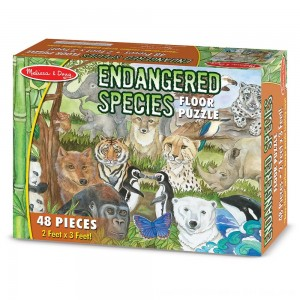 Black Friday 2020 - Melissa And Doug Endangered Species Jumbo Floor Puzzle 48pc