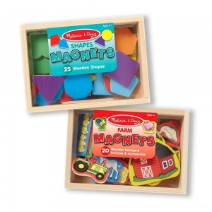 Black Friday 2020 - Melissa & Doug Wooden Magnets Set - Shapes and Farm (45pc)