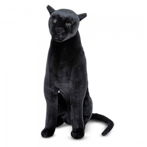 Black Friday 2020 - Melissa & Doug Giant Panther - Lifelike Stuffed Animal (nearly 3 feet tall)