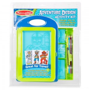 Black Friday 2020 - Melissa & Doug Adventure Design Activity Kit: 9 Double-Sided Plates, 4 Colored Pencils, Crayon