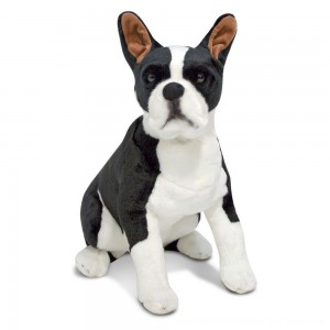 Black Friday 2020 - Melissa & Doug Giant Boston Terrier - Lifelike Stuffed Animal Dog