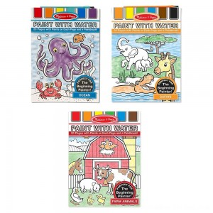 Black Friday 2020 - Melissa & Doug Paint With Water Activity Books Set: Farm, Ocean, Safari