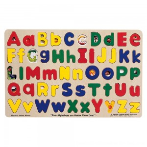 Black Friday 2020 - Melissa & Doug Upper & Lower Case Alphabet Letters Wooden Puzzle (52pc)