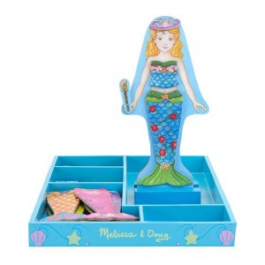 Black Friday 2020 - Melissa & Doug Merry Mermaid Wooden Dress-Up Doll and Stand - 35 Magnetic Accessories