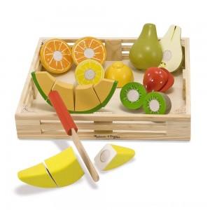 Black Friday 2020 - Melissa & Doug Cutting Fruit Set - Wooden Play Food Kitchen Accessory