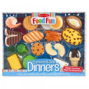 Black Friday 2020 - Melissa & Doug Food Fun Combine & Dine Dinners - Blue