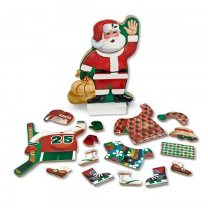 Black Friday 2020 - Melissa & Doug Santa Wooden Dress-Up Doll and Stand With Magnetic Accessories (22pc)