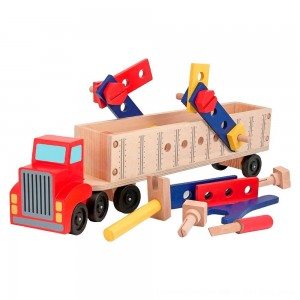 Black Friday 2020 - Melissa & Doug Big Rig Truck Wooden Building Set (22pc)