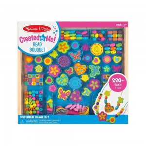 Black Friday 2020 - Melissa & Doug Bead Bouquet Deluxe Wooden Bead Set With 220+ Beads for Jewelry-Making